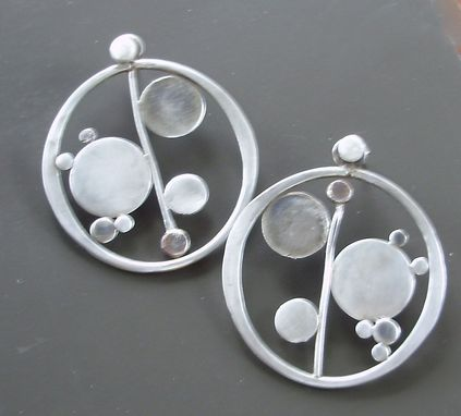 Custom Made Bubbly Hoops With Post