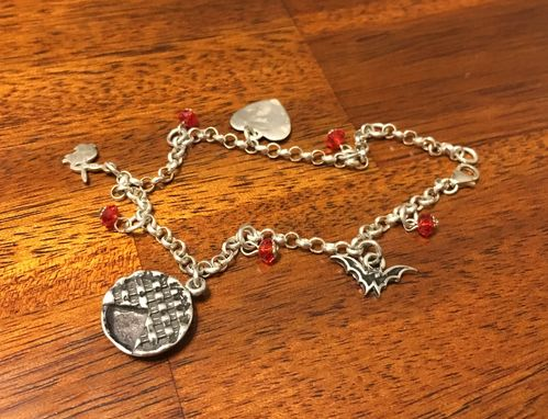 Custom Made Personalized Charms And Birth Stone Bracelet