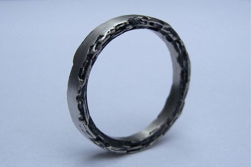 Custom Made Sterling Silver Rough Edge Band 3mm