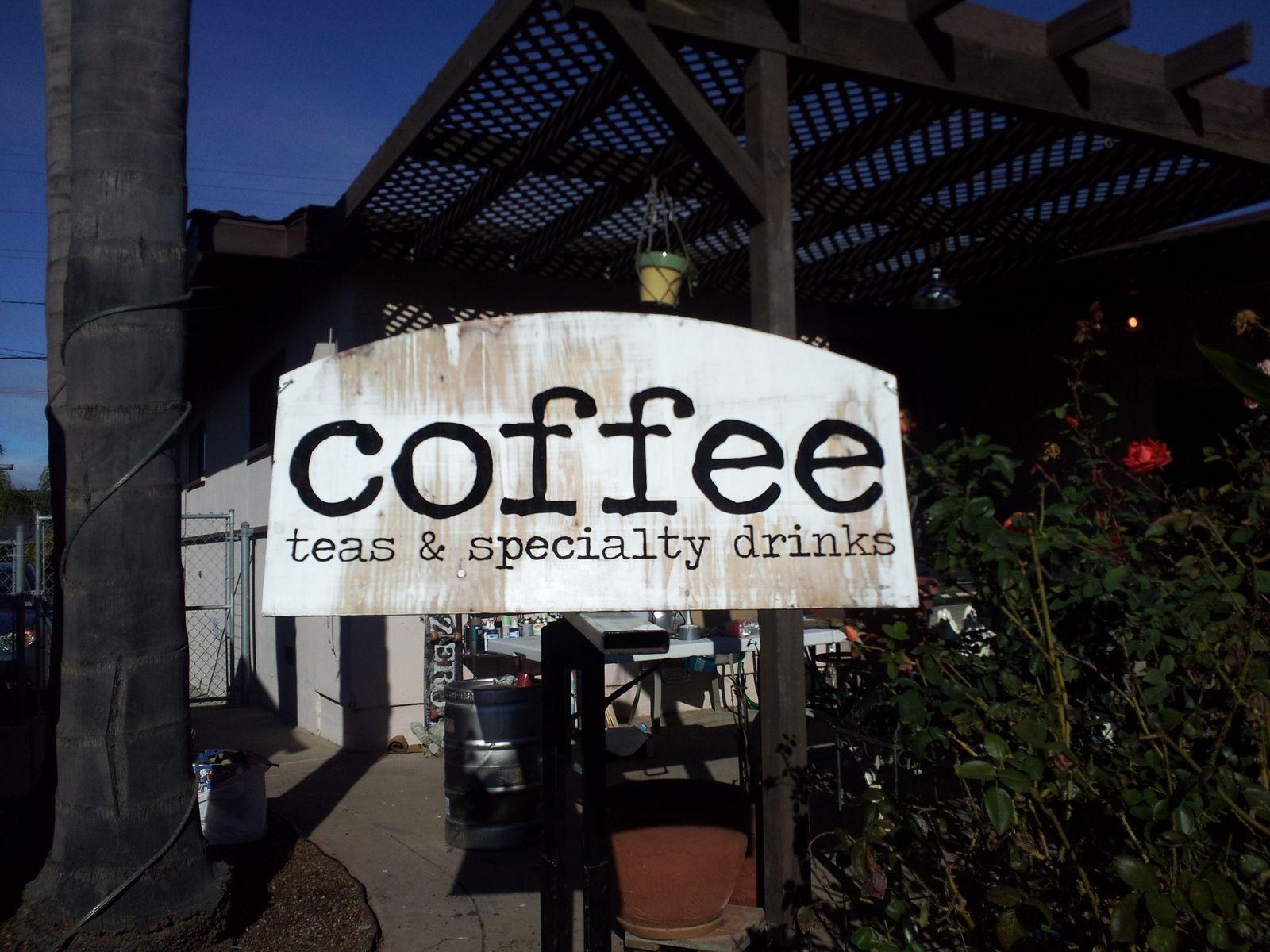 Handmade Custom Coffee Shop Sign By Olde School Honour