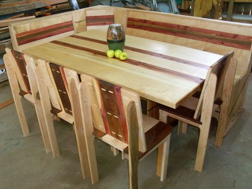 Buy a Hand Crafted Maple And Red Cedar Dining Set, Trestle Table ...