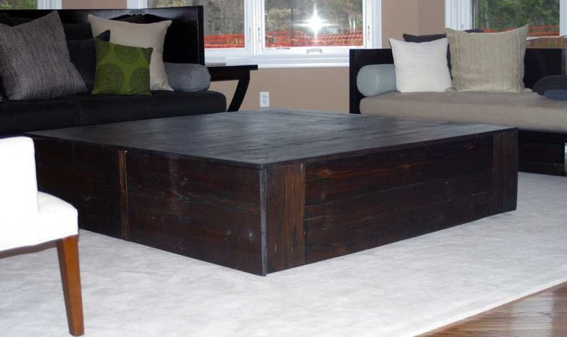 hand crafted square reclaimed coffee tabletim sway