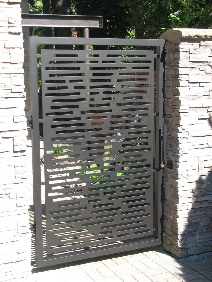 Hand Made Contemporary Gate By Aztec Artistic Productions