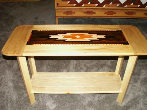 Custom Made Indian Blanket Coffee Table