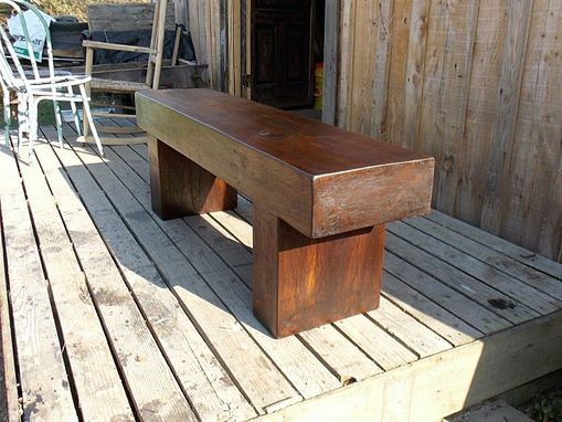Custom Made Massive Walnut Timber Bench/Coffee Table/Tv Stand