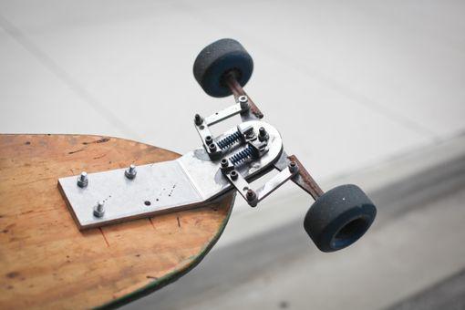 Handmade custom skateboard trucks by three d works for Made design