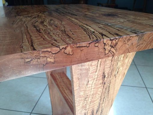 Custom Made Modern Spalted Austrailian Pine End Table.