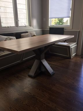 Custom Made Old Reclaimed Pine Dining Table