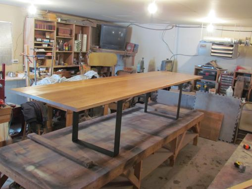 Custom Made Maple And Steel 12ft Conference Table