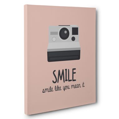 Custom Made Smile Like You Mean It Canvas Wall Art