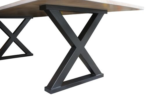 Buy A Hand Made White Oak X Base Dining Table Floor Model Made - X base dining table