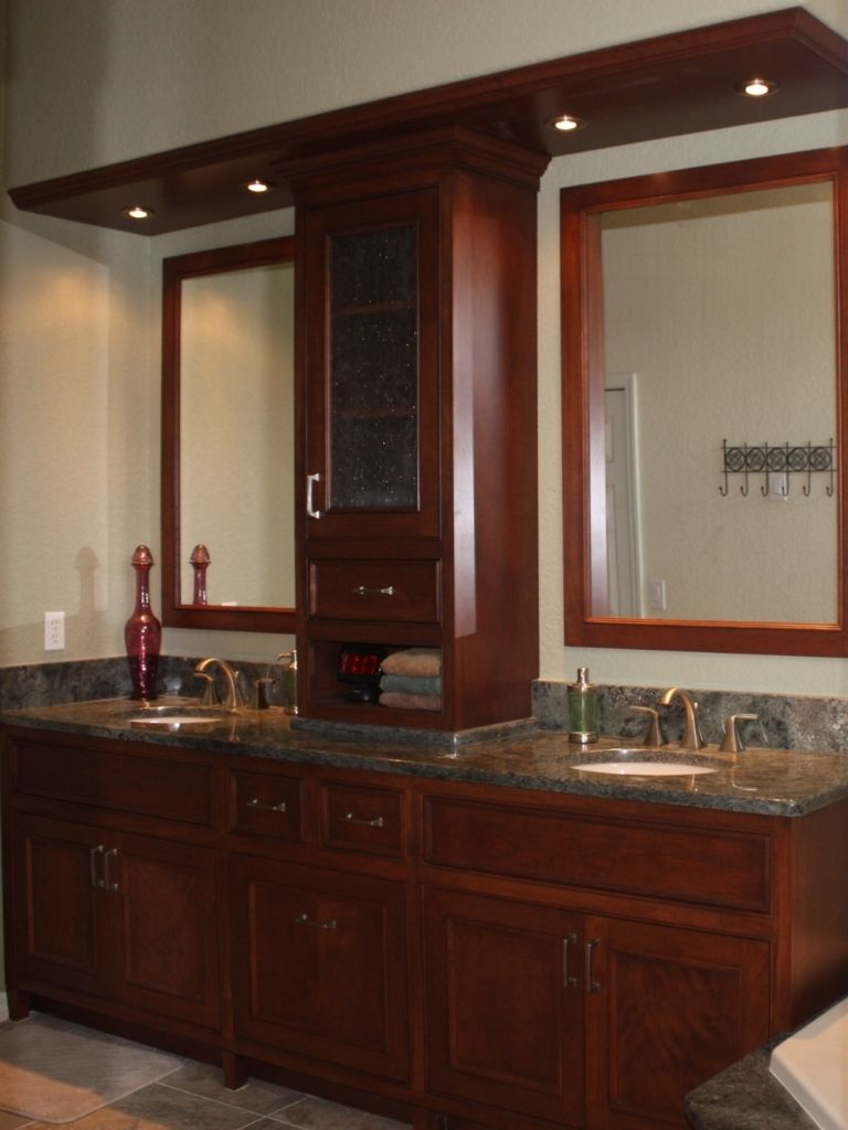 Hand Crafted Master Bath Vanity By Aakb Inc Custom