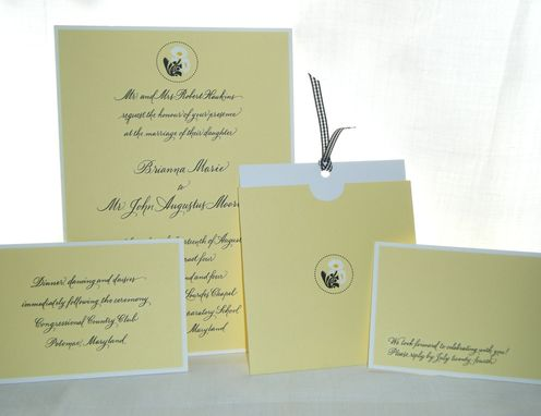 Custom Made Calligraphy Wedding Invititations