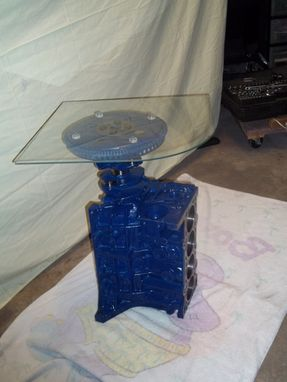 Custom Made Recycled 4cyl. Engine End Table