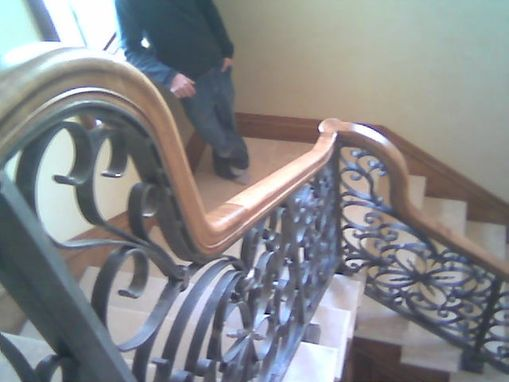 Custom Made Forged Stair Railing