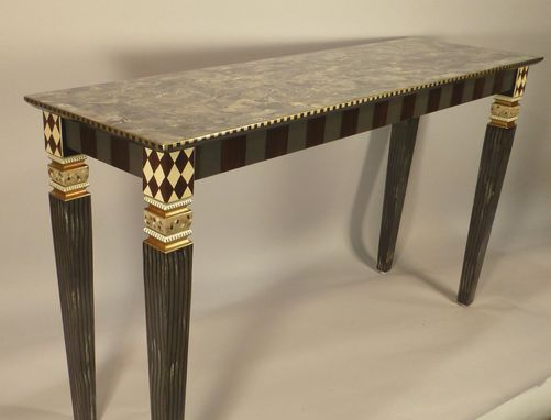 Custom Made Handpainted Console Table