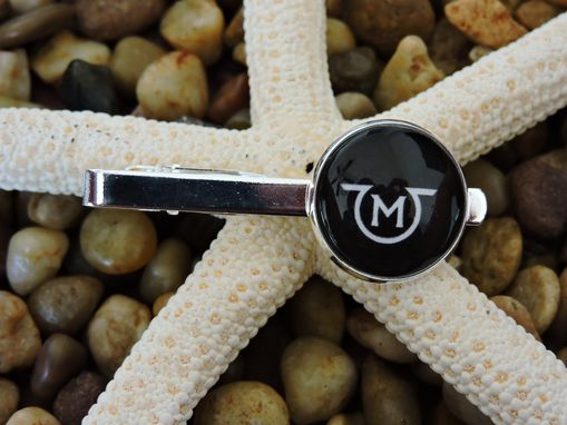 Custom Made Custom 20mm Sterling Silver Plated Tie Clip