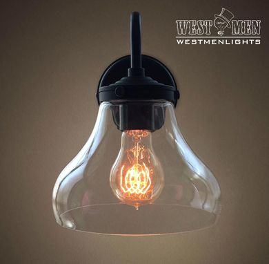 Custom Made Westmenlights Glass Bell Shade Wall Sconce Bedroom Living Room Lamp