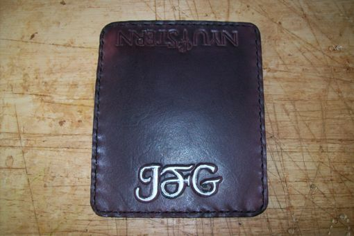 Custom Made Leather Business Card Case