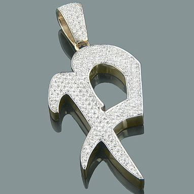 Custom Made Alphabet Custom Made Initial Diamond Letter Pendant