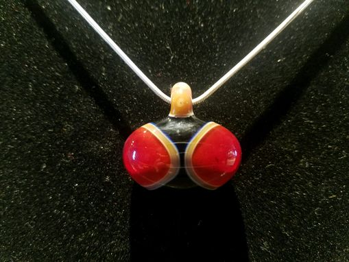 Custom Made 3 Color Pendant Red With Caramel Trim On Black