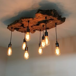 Custom chandeliers and pendants custommade medium live edge olive wood chandelier rustic and industrial light fixture by paul miller aloadofball Choice Image