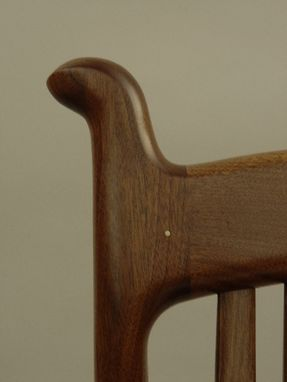 Custom Made Custom Black Walnut Wood Seat Rocker