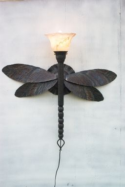 Custom Made Dragonfly Sconce