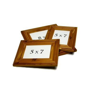 Custom Made Handmade Rustic Cedar Picture Frame Set - Wall Decor