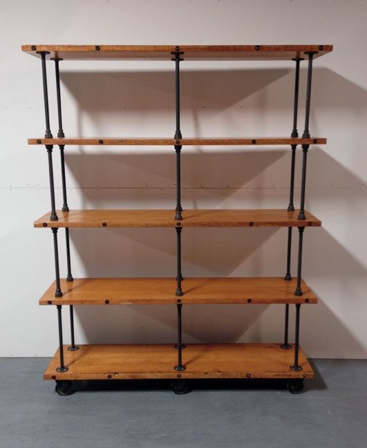 Handmade Industrial Iron Pipe Storage Shelf By Object A