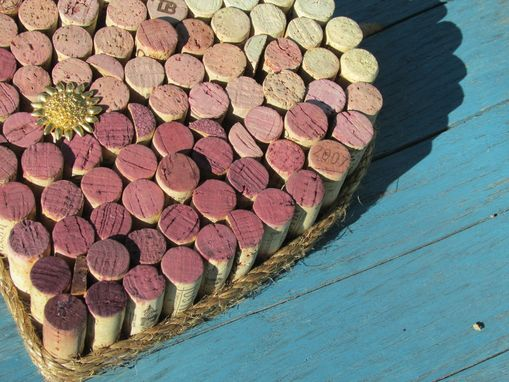 Custom Made Heart Shaped Cork/Pin Boards Using Recycled Wine Corks