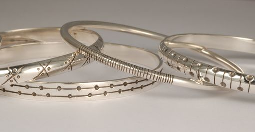 Custom Made Sterling Silver Bangles