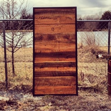 Custom Made Sliding Door Barn Wood & Steel