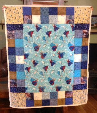 Custom Made One Of A Kind Unique Disney Frozen Princess Anna Queen Elsa And Olaf Character Quilt