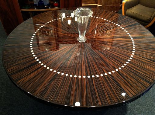 Custom Made Custom Round French Modernist Dining Or Entry Hall Table