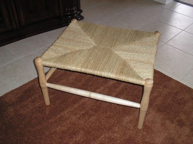 Custom Made Maple Bench With Woven Seagrass Seat - Handmade Maple Bench With Woven Seagrass Seat By The Wooden Quill