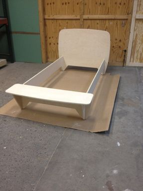 Custom Made Modern Bed With Bench