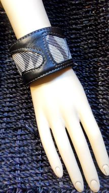 Custom Made Unisex Cuff Bracelet In Black & White