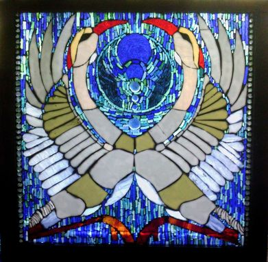 Custom Made And Then Return Again ....Stained Glass On Glass Mosaic Sculpture