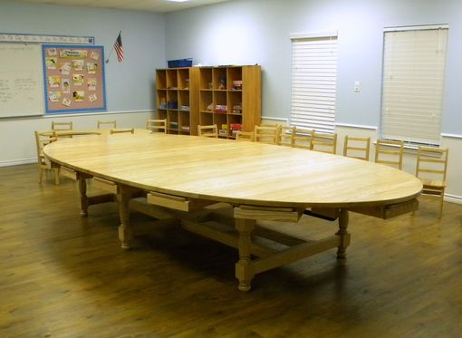 Custom Made Collaborative Learning Oval School Tables