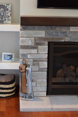Custom Made Walnut Mantel- Stained