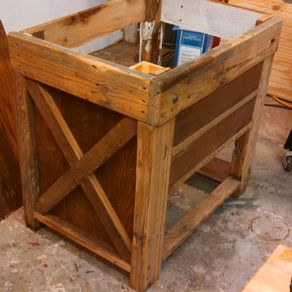Rustic Bathroom Vanity From Reclaimed Pine by Mark Martone Hand Crafted Bath  Barnwood
