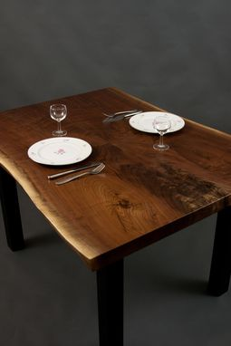 Custom Made Stern - Live Edge Black Walnut Dining/Kitchen Table