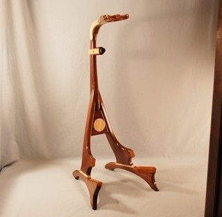 Custom Made Walnut /Curly Maple Model 1 Guitar Stand