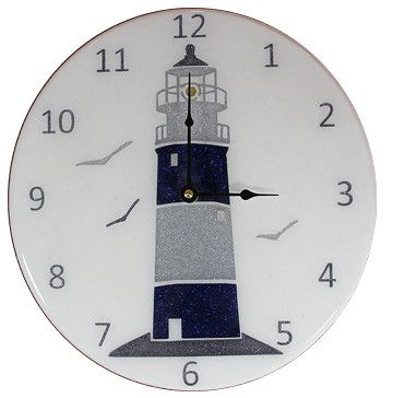 Custom Made Lighthouse Inspired Wall Clock