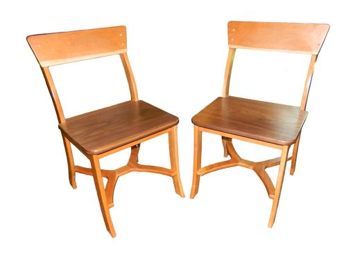 Custom Made Custom Walnut Cherry Chairs