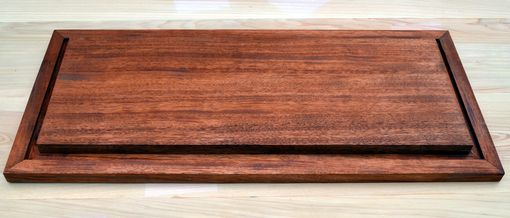 Custom Made Ribbon Mahogany Base For A Display