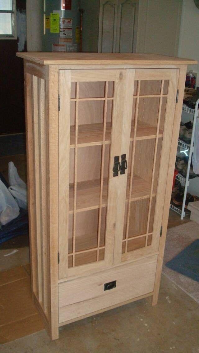 Custom Made Mission Bookcase Quartersawn Oak Unfinished