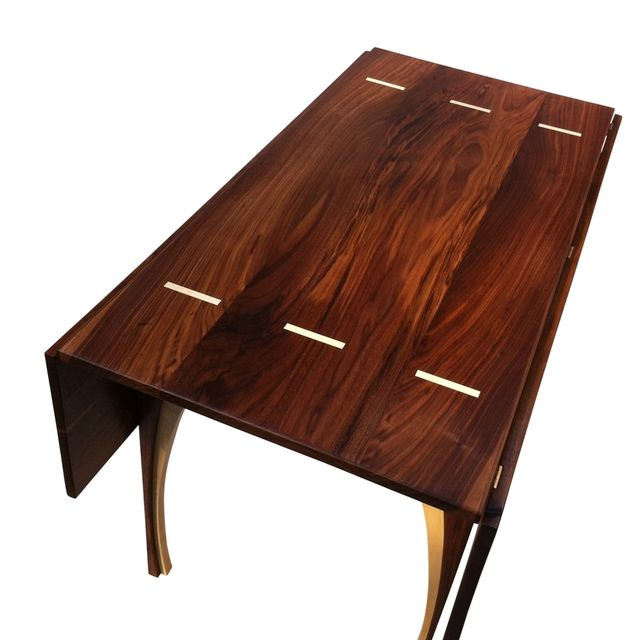 A Custom Solid Walnut Drop Leaf Table Made To Order From Studio1212 Custommade