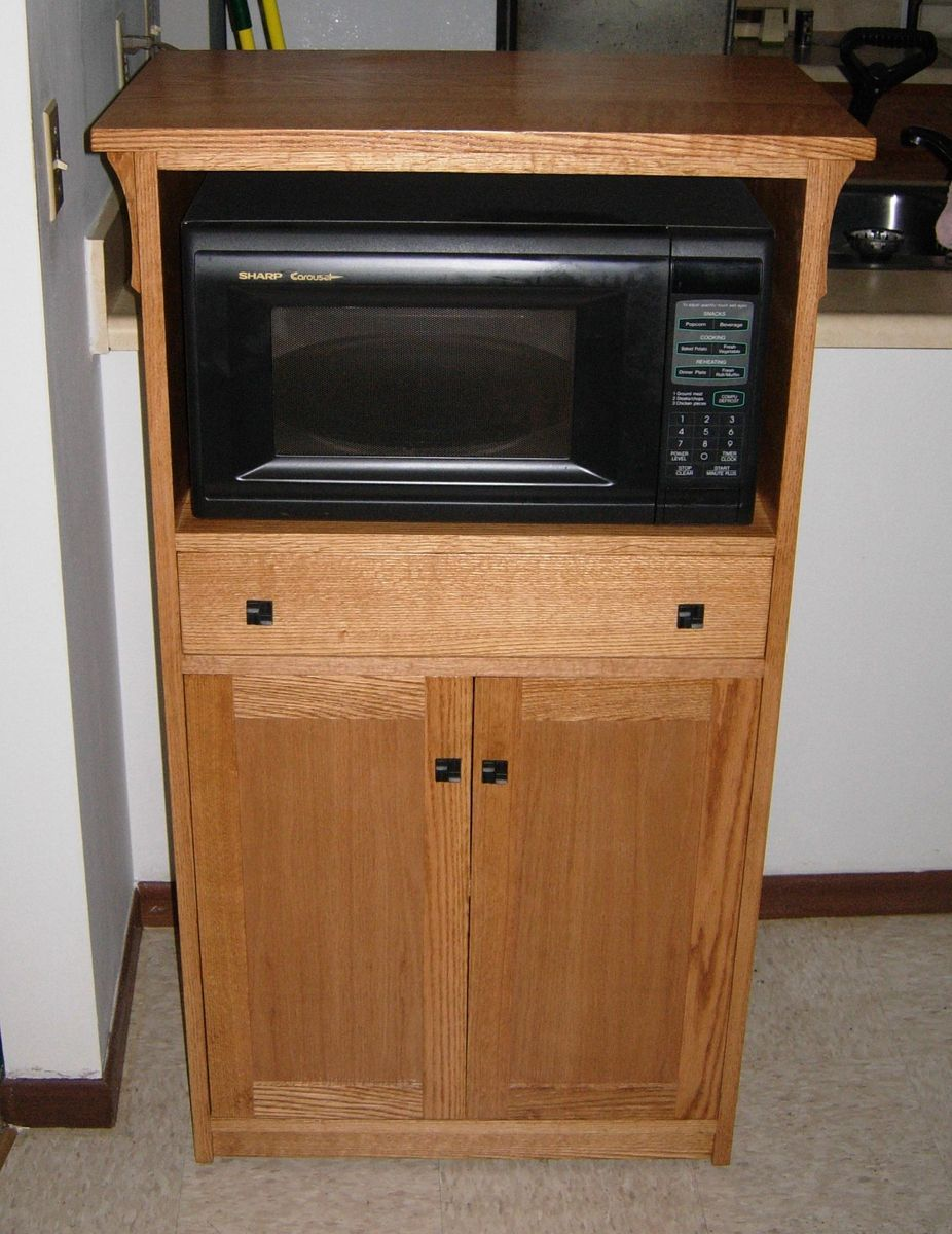 Hand crafted microwave cabinet by joey 39 s custom - Custom made cabinet ...